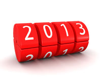2013 year rolling calendar. 3d illustration Royalty Free Stock Image