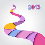 2013 Year of the snake. Christmas card Stock Illustration