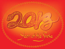 2013, Year of the Snake. Chinese New Year, 2013 (EPS 10 Royalty Free Stock Photo