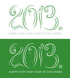 2013 year of the snake. Vector illustration of New Year card Royalty Free Illustration