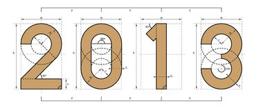 2013 Year Technical Project Design Stock Photo