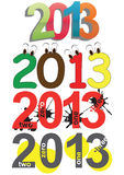 2013 year text Stock Images