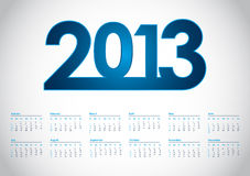 2013 year vector calendar. With special design Stock Images