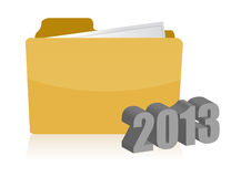 2013 yellow folder illustration design. Over white background Stock Photography