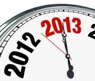 2013 Zegarowej twarzy czasu cykota puszka początek nowy rok Fotografia Stock