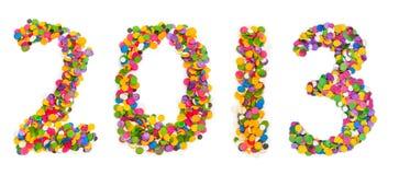 2013 zrobili confetti Zdjęcie Stock