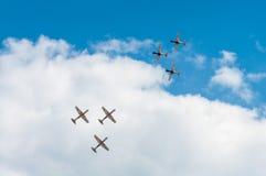 飞行表演2013年,拉多姆2013年8月30日 库存照片