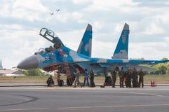 飞行表演2013年,拉多姆2013年8月30日 免版税图库摄影