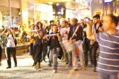 抗议在土耳其在2013年6月 图库摄影