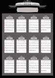 2014个专业人员企业日历 库存照片