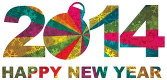 2014个新年好数字 免版税库存照片
