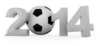 2014个杯子足球世界 库存例证