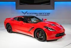 2014年Chevrolet Corvette黄貂鱼 免版税库存照片