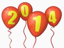 2014 μπαλόνια Στοκ Εικόνες