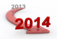 Into 2014 Royalty Free Stock Photos