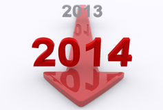 Into 2014 Stock Photography