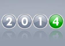 2014个新年例证 免版税库存图片