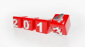 2014 3d cubes. New year 2014 3d cubes vector illustration