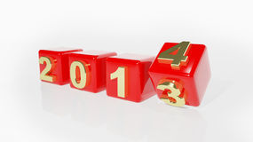 2014 3d cubes. New year 2014 3d cubes Stock Photos