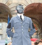 爱丁堡边缘节日的执行者2014年 免版税库存照片