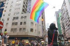 香港骄傲游行2014年 免版税库存照片