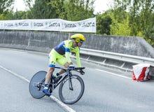 骑自行车者迈克尔・罗杰斯-环法自行车赛2014年 免版税库存图片