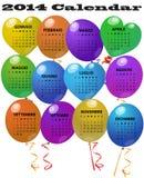 2014 Balloon Calendar Stock Photography