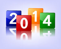 2014 Blink Colorful. Illustration of 2014 Blink Colorfu Royalty Free Stock Photos