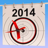 2014 Calendar Means Planning Annual Agenda Stock Photo
