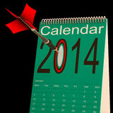 2014 Calendar Shows Business Schedule And Plan Royalty Free Stock Images