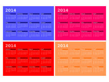 2014 Calendars. An image of a 2014 calendars Stock Images