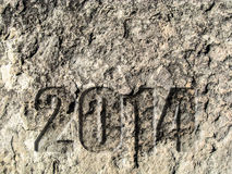 2014 Carved in Stone Royalty Free Stock Photography