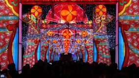 2014 Chinese New Year temple fair and lantern festival stock footage