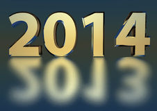 2014 chrome - 2013 reflection Stock Photography