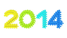 2014 Colorful concept Royalty Free Stock Photo