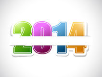 2014 colorful sign card illustration design Stock Photo