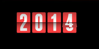 2014 is coming !. 2013 to 2014 flip board Stock Photos
