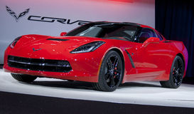 2014 Corvette Stingray Debuts. The 2014 Chevrolet Corvette Stingray is unveiled at the 2013 North American International Auto Show in Detroit, MI Royalty Free Stock Photos