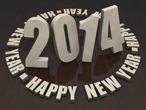 2014 Felices Año Nuevo Foto de archivo libre de regalías