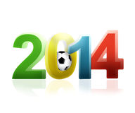 2014 football. Football 2014 3d modern colors Royalty Free Illustration