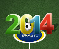 2014 football. Modern 3d look Vector Illustration