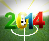 2014 football. Football 2014 3d image beautiful background Royalty Free Illustration