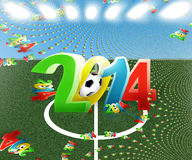 2014 football. Football 2014 abstract modern image Vector Illustration