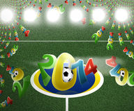 2014 football. Football 2014 abstract modern image Royalty Free Illustration