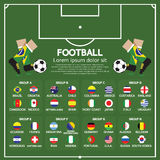 2014 Football Tournament Chart Stock Image