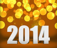 2014 Gold New Year Background Stage Royalty Free Stock Photography