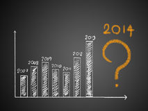 About 2014 on graph Royalty Free Stock Photo