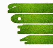2014 grass. Illustration with a 2014 year on grass royalty free illustration