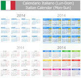 2014 Italian Mix Calendar Mon-Sun Royalty Free Stock Photo