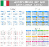 2014 Italian Mix Calendar Sun-Sat Stock Photo